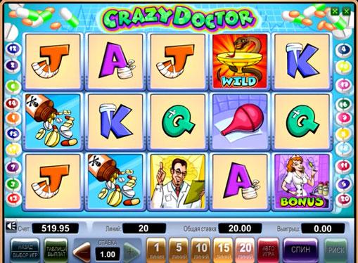 Crazy Doctor在線播放插槽以獲取金錢