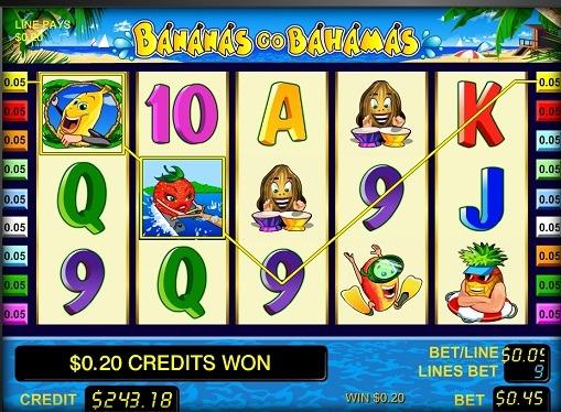 槽的捲軸Bananas go Bahamas